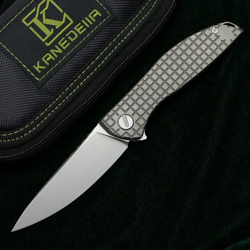 Kanedeiia Neon Zero folding knife k110 blade titanium handle outdoor hunting camping fishing trekking tactics pocket fruit knives EDC tools