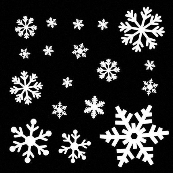 Natale neve ornamenti piano Schiuma Neve Windows di vetro di Natale multi pendente del foglio SD01 MFxO #