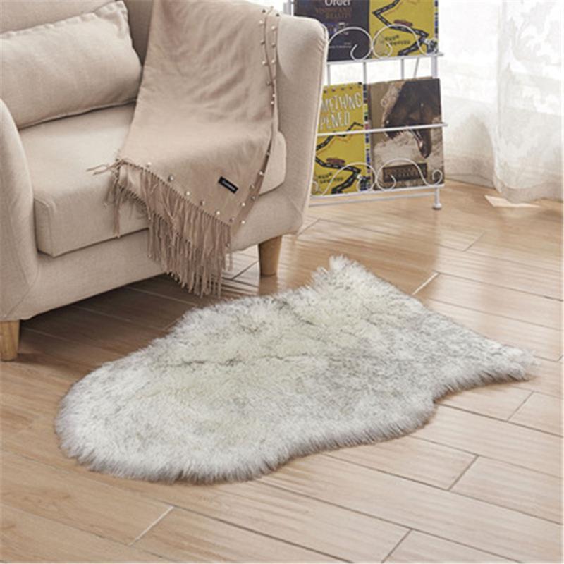 Carpets Artificial Sheepskin Hairy Rug Mat Carpet Living Room Bedroom Rugs Skin Fur Plain Fluffy Area Washable Faux