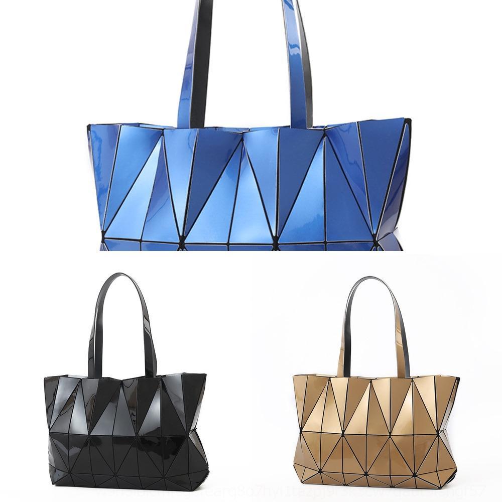 saco 2020 rhombic a laser fashion mão estilo coreano das mulheres ombro Sanzhai mesmo dobrar a bolsa da handbagWomen gYROU