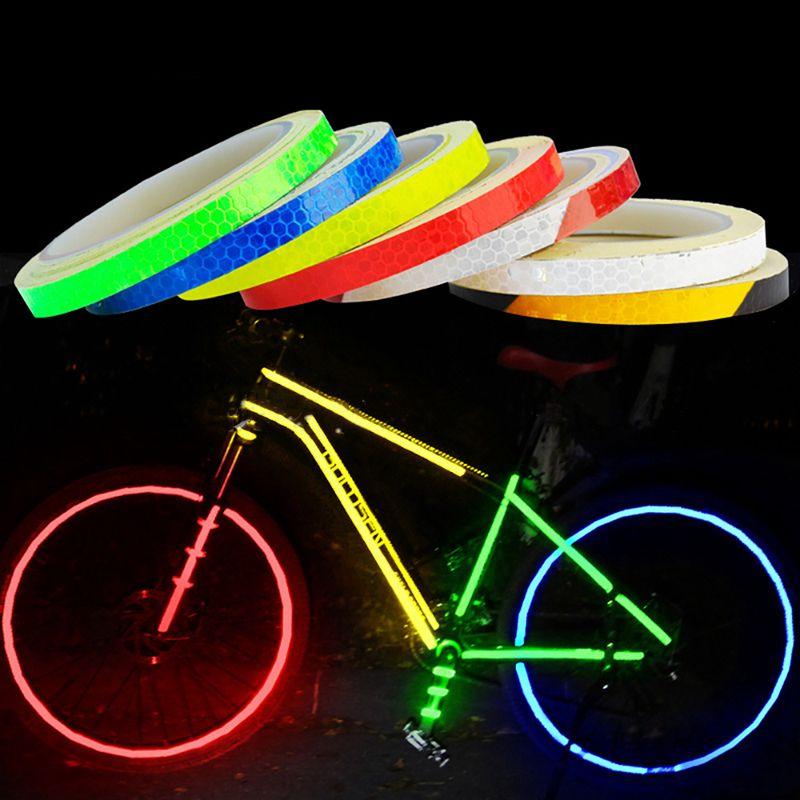 1PC 8 Meter Car Styling Светоотражающих полос лента Мотоцикл Велосипед тело Rim колесо нашивка лента Наклейка Декоративная синий / красный / желтый