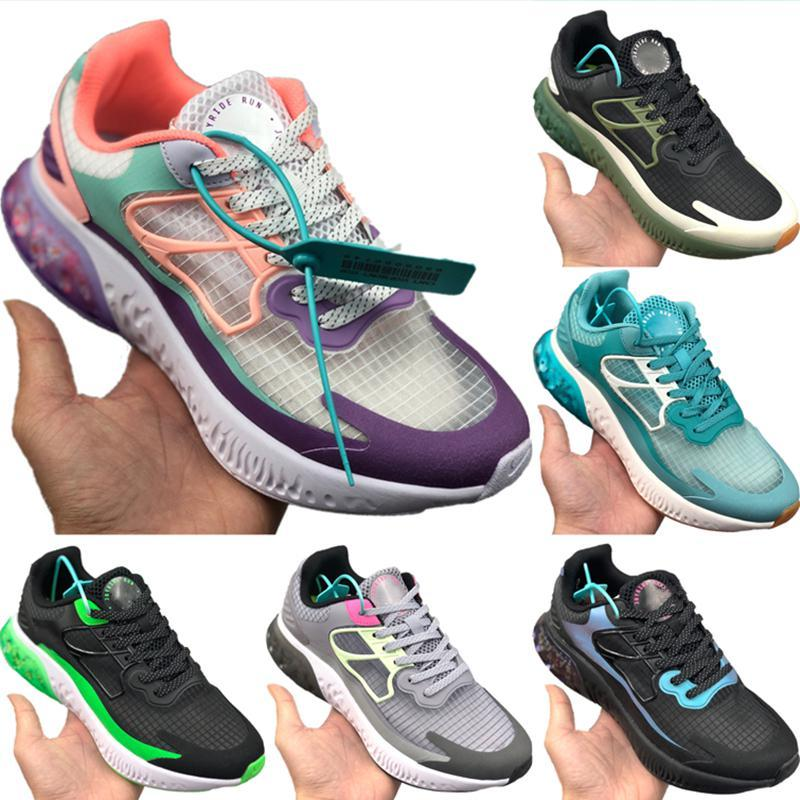 With Box 2020 Joyride Run Racer Ice Silk Running Shoe Originals Joyride Run Racer React Shield and Zoom Air Built-in Particle Jogging Shoes