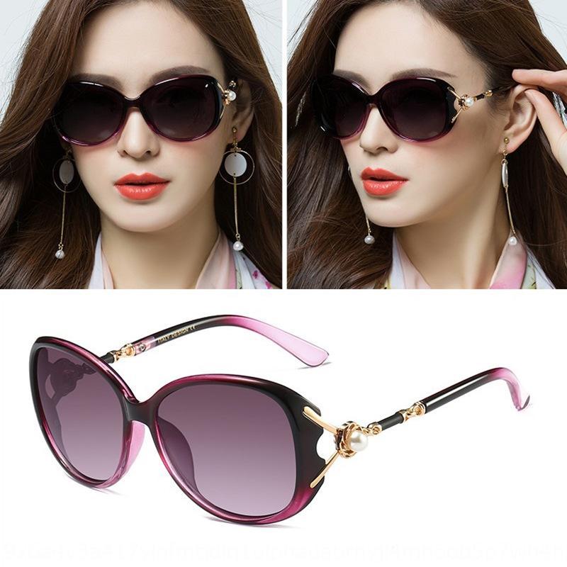 oWS0I Mode Gradienten Sonne Sonne elegant Perle Serie Sonnenbrille Frauen personifizierte Berühmtheit Gläser 6033 Internet texturierten