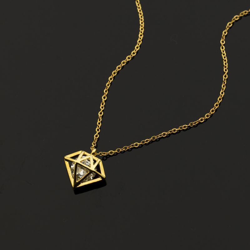 Gioielli di cristallo Cono pendenti delle collane per le donne in acciaio inox oro Ketting Amicizia Collana migliori regali per la fidanzata