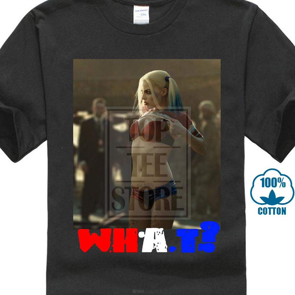 Harley Quinn Margot Robbie Suicide Squad Comic Book film T-shirt 025442