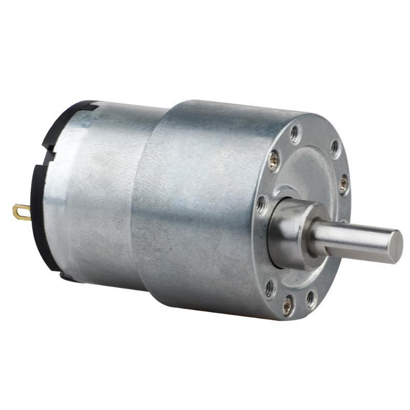 12V의 80rpm / 6V 500 rpm으로 메탈 기어 감속기 높은 경도 토크 모터 기어 모터 감소 보트 자동차 FAN E-자전거에 대한 기어드 모터