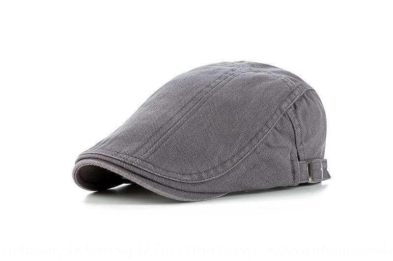 9byvX Korean style fashion cotton light plate color matching cap men's high-end beret beret sun hat