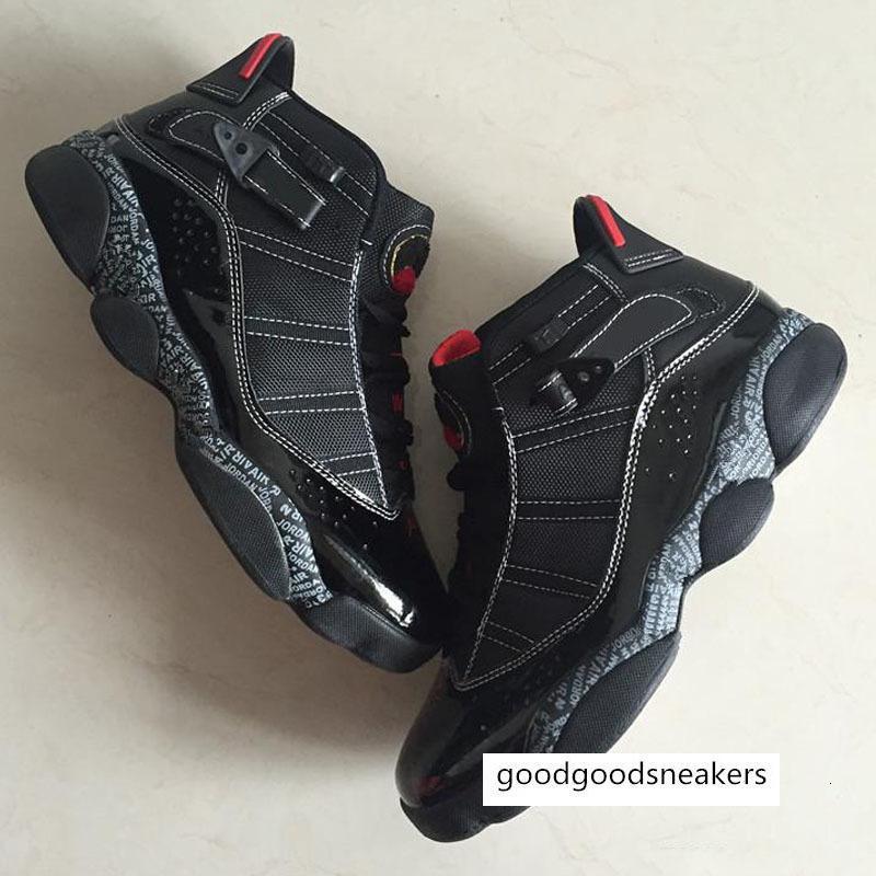 Qualität Top-heißen Verkauf-billig 6 Sechs Ringe Stiefel Schuhe neuen Ankunfts-Männer Jumpman Vi Schwarz Rot Designer Komfortable Größe 40--45
