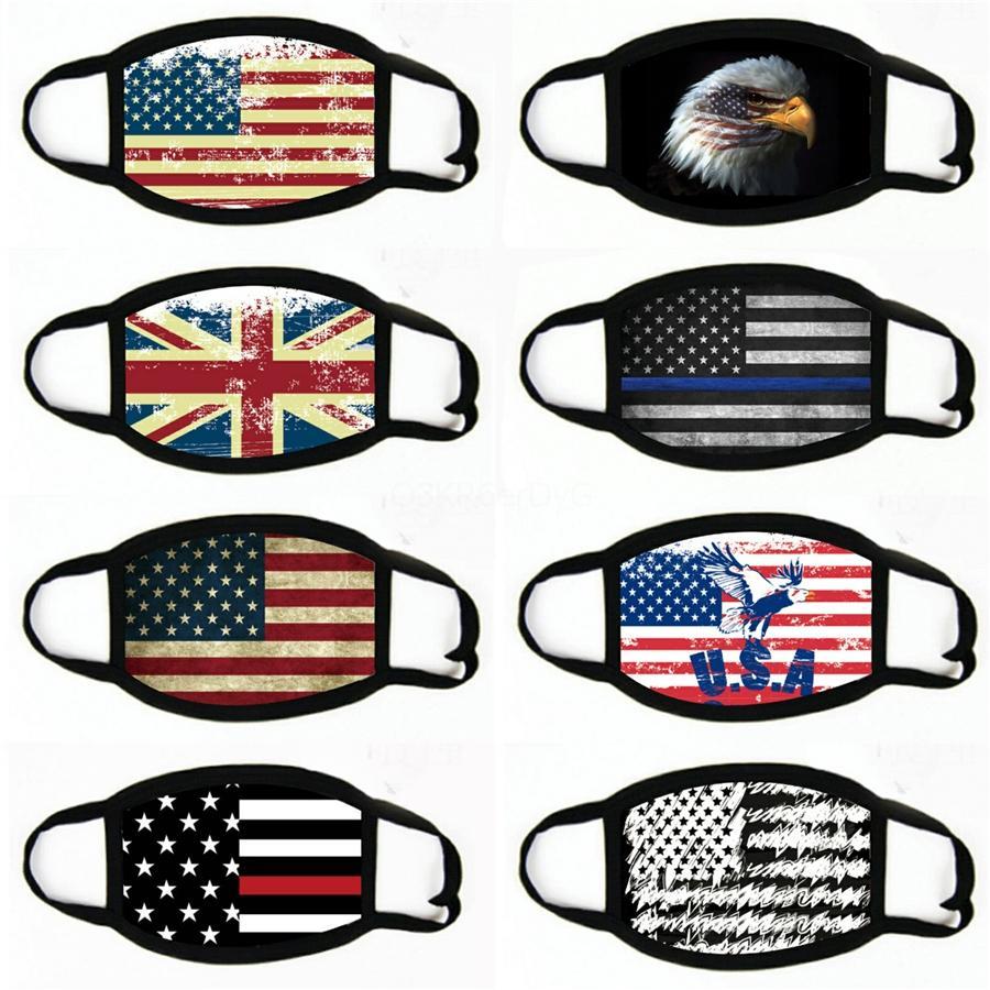 American Flag Face Mask Fashion Dustproof WashableMouth Mask Diamond USA Flags Masks Bling Rhinestone Face Masks#175
