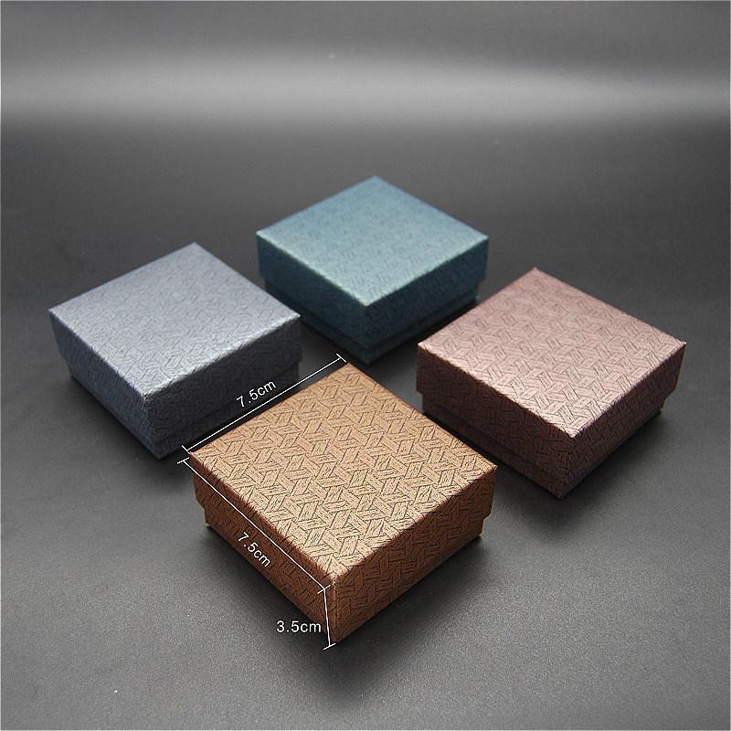 Оптовые ювелирные изделия бумага Ткань Боксы горячий продавать винтажные Коробки для Серьги Кольца Колье Браслеты 7.5см и 7.5см