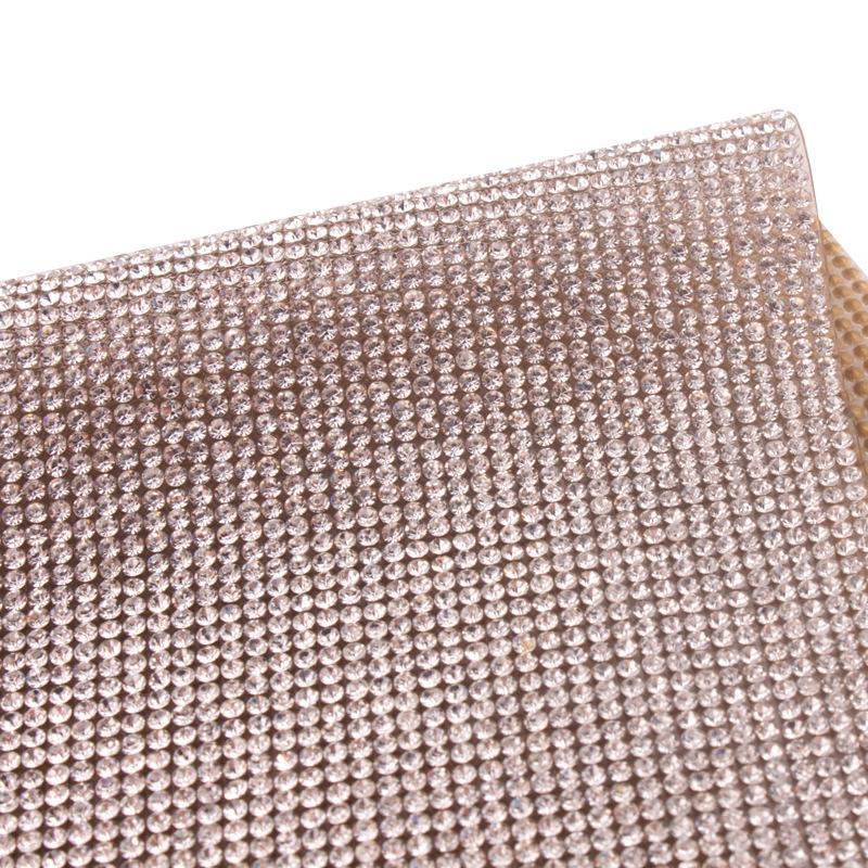 llena de diamantes neto de goma U0SZa 2mm sola extremidad del color de fusión en caliente pegamento trasero de los accesorios netos de perforación Rhinestone Rhinestone accesorios decorativos de ITS