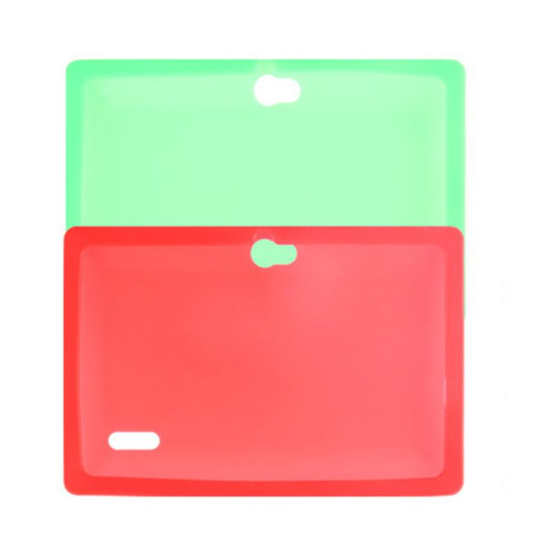 Colorful Silicone Case Cover For Q8 Q88 With Flash Light Flashlight A33 Quad-core Android 4.4 Tablet PC 7 Inch Protective Shell