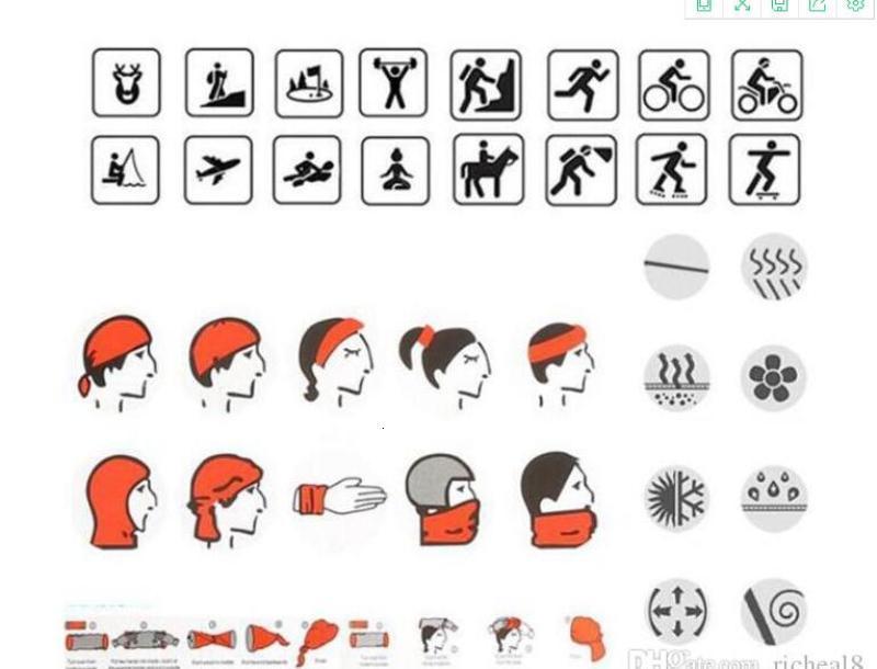 STOCK US, crânio desporto ao ar livre Neck bandanas pesca Escudo Máscara Facial Headband Bandana Headwear Anel Scarf balaclavaTQZY bicicleta