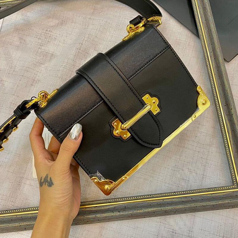 Square Classic Cadeia Shoulder Bags Carta Inserir fivela da bolsa Lady Bolsas Couro Mulheres embreagem Messenger Bag Crossbody Totes
