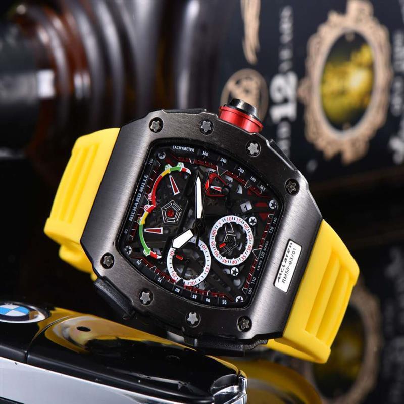 011 All Subdials Work Hot Mens Watches Stainless Steel Quartz Wristwatches Stopwatch Luxury Watch