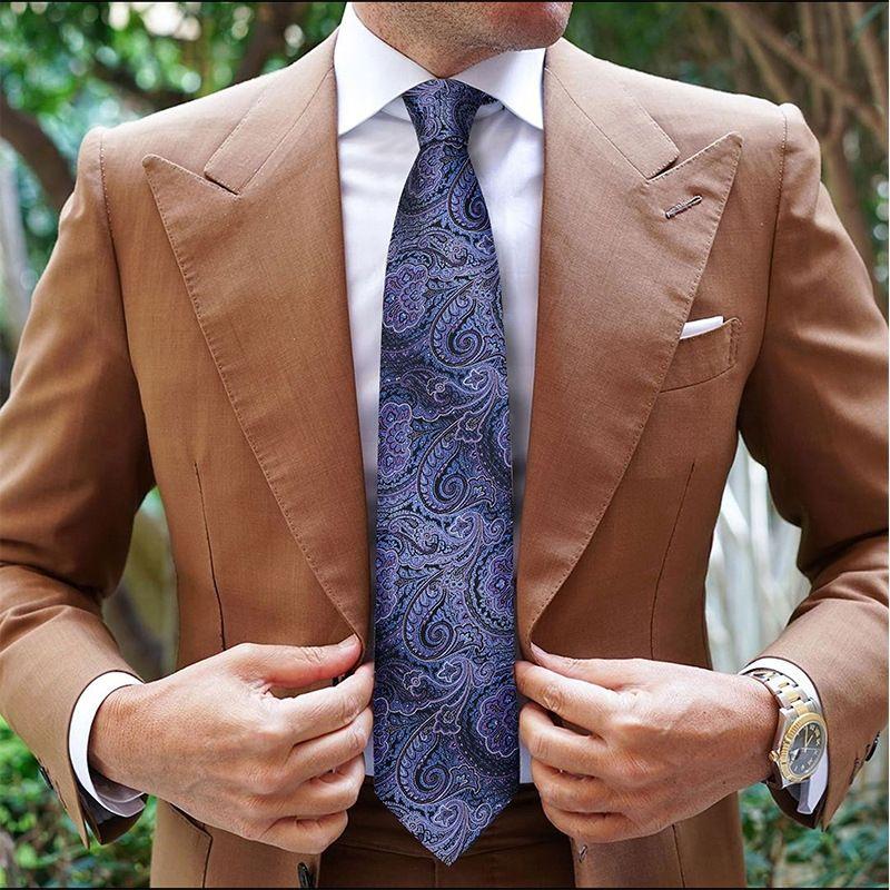 i8bzp Marojayson élégantes mûriers à motifs de soie haut de gamme pour hommes Marojayson affaires costume formel élégant costume hommes cravate d'affaires formelle haute