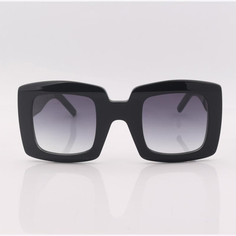 Schwarzes Quadrat klobige Sonnenbrille Frauen grau Gradientenlinse Art und Weise Frauen Sehhilfen