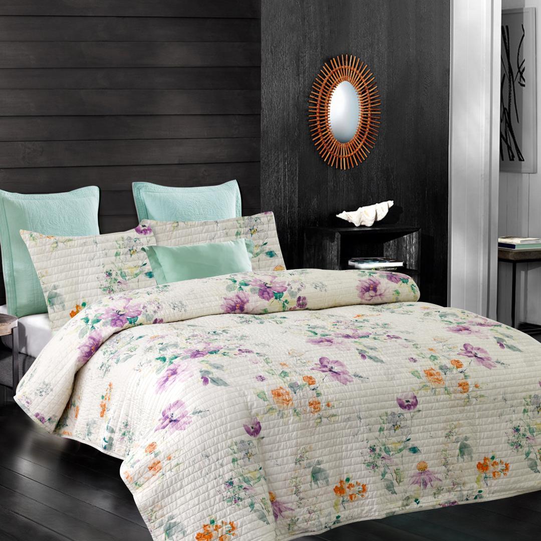 Motivo floreale trapuntato copriletto Multifuctional reattivi Coloranti Coperte traspirante estate Quilt copertina materasso casa