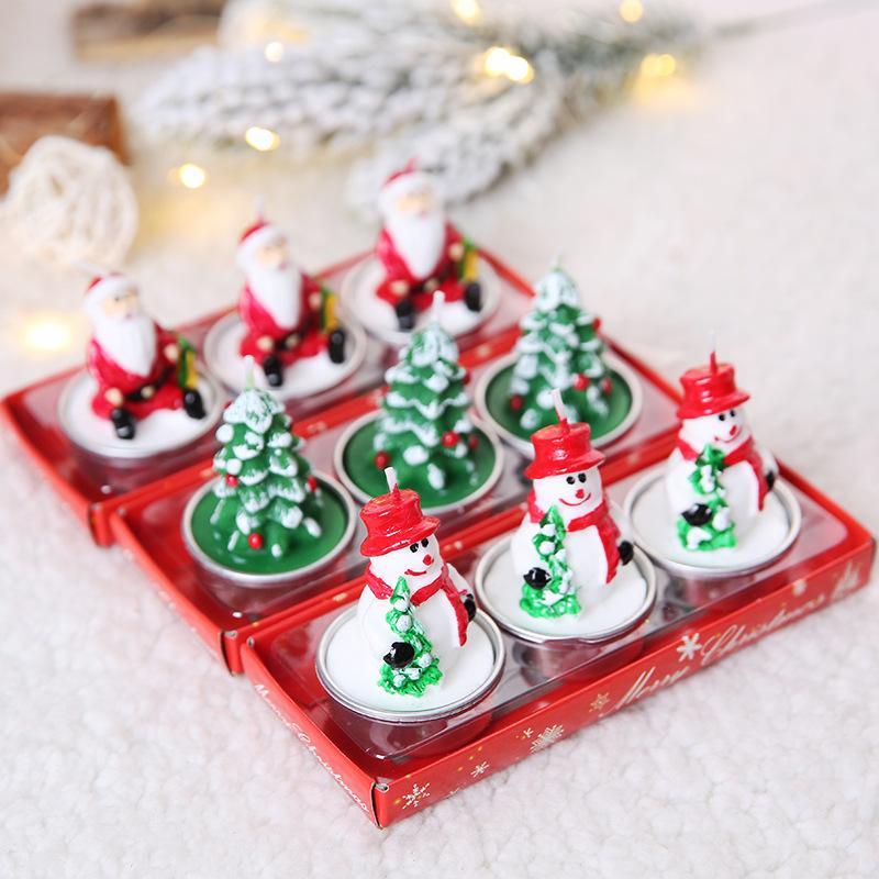 Candela di Natale Vigilia di Natale candela romantico regalo di pigna vecchio Pupazzo creativo piccola candela T3I51116