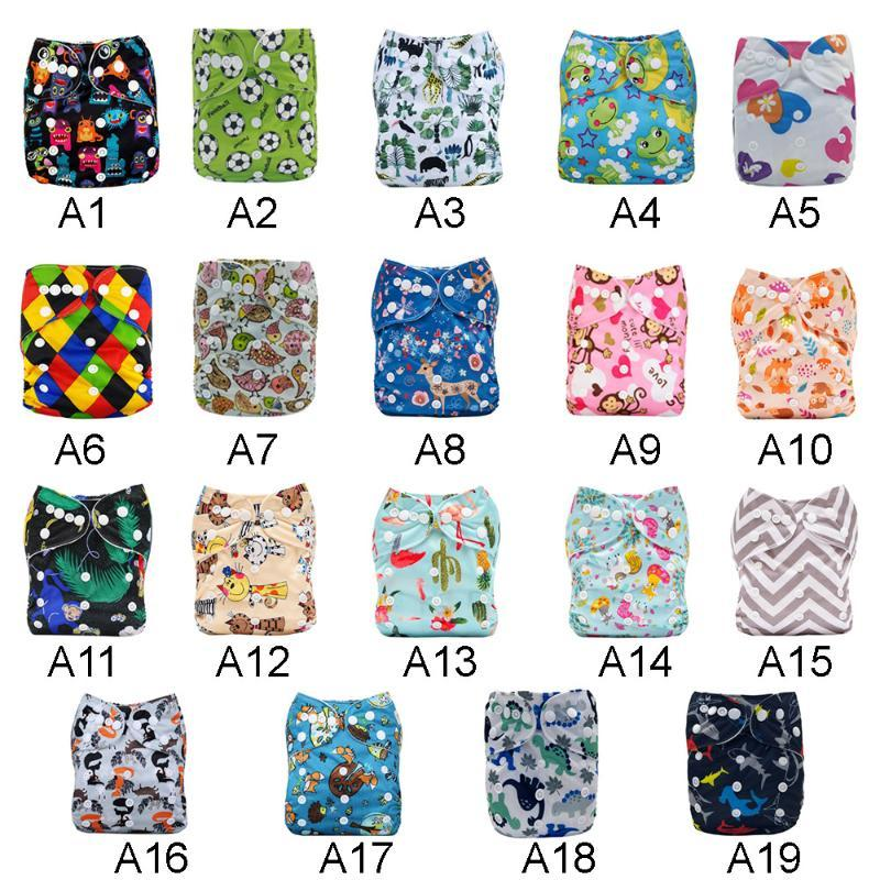 Baby Cotton Nappy Diaper Cover Washable Reusable Real Cloth Pocket Nappy Diaper Cover Wrap Suits Pants