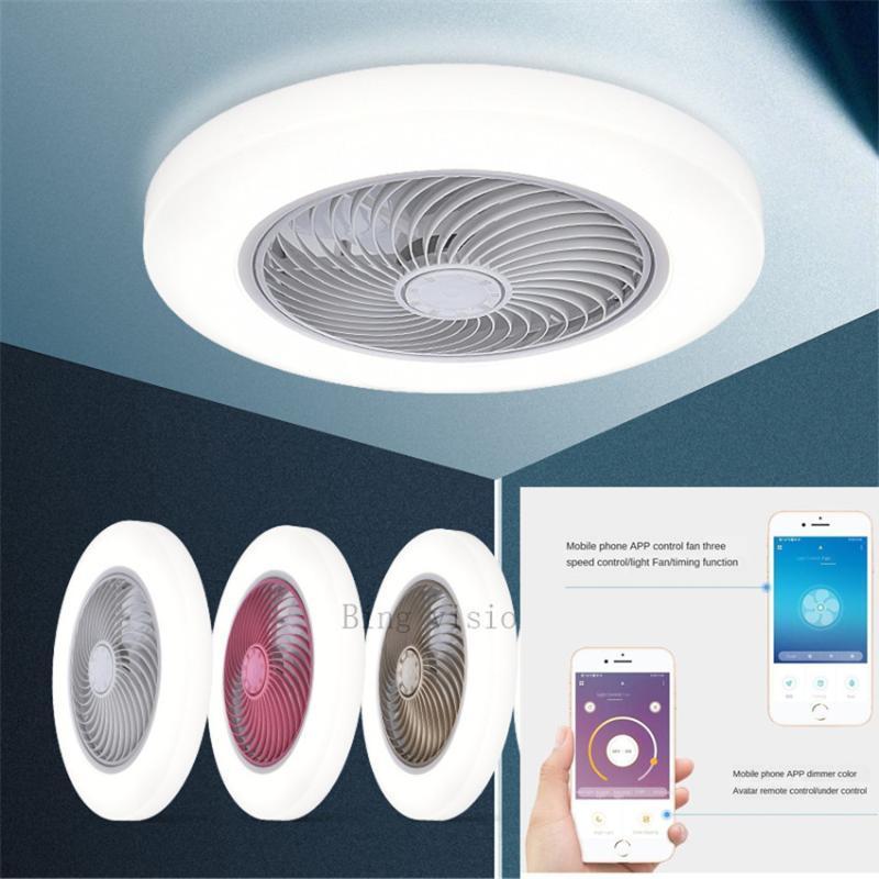 inteligentes ventilador ventiladores grande tamanho 58cm APP teto inteligente com lâmpada luzes controle remoto quarto decoração ventilador 220V fã 110V teto