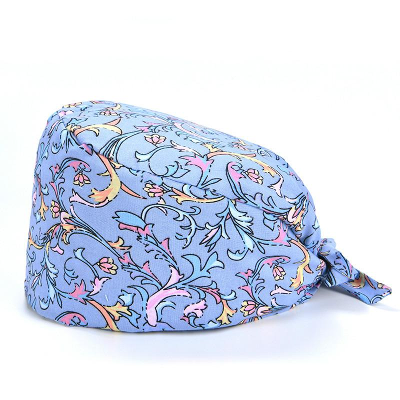 mirada de la manera tapa contra el polvo de laboratorio sombrero ocasional esteticista esmerilado de algodón casquillo unisex calabaza Beanie sombrero de cocinero