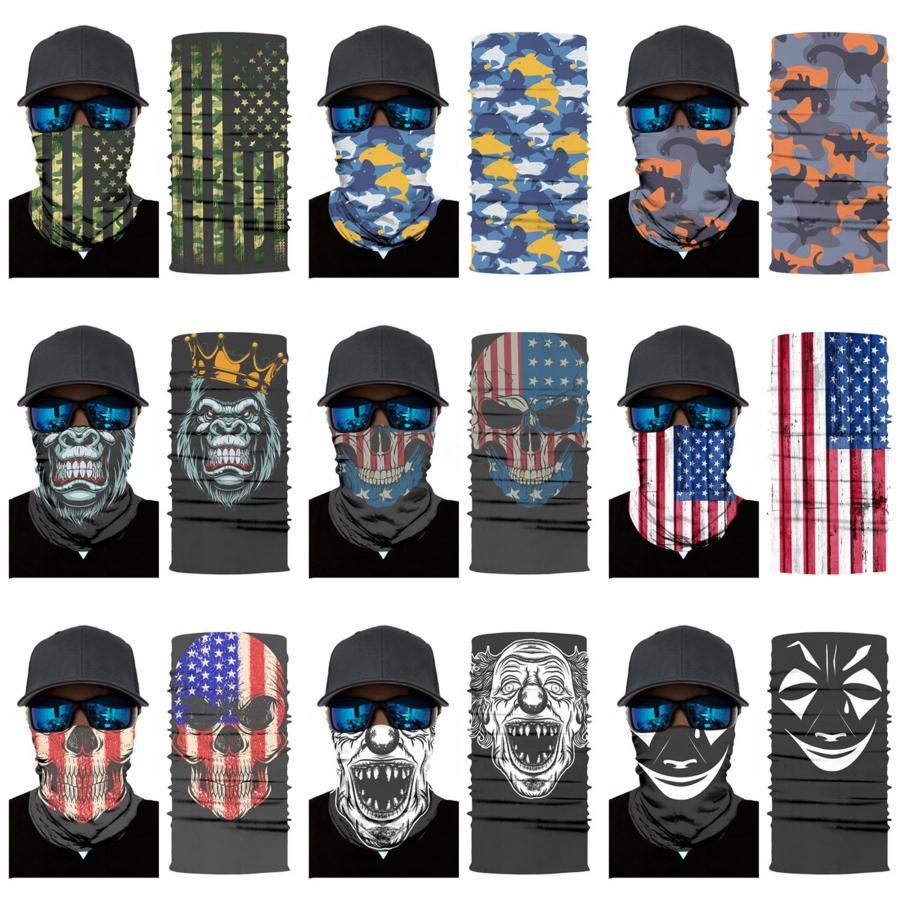 JWmhP 3D sem emenda Bandanas Magia Neck Buffs Motorcycle Cycling face Skull Scarf Impresso Halloween Mask A Fa Headband Caminhadas Skull Scarf # 889