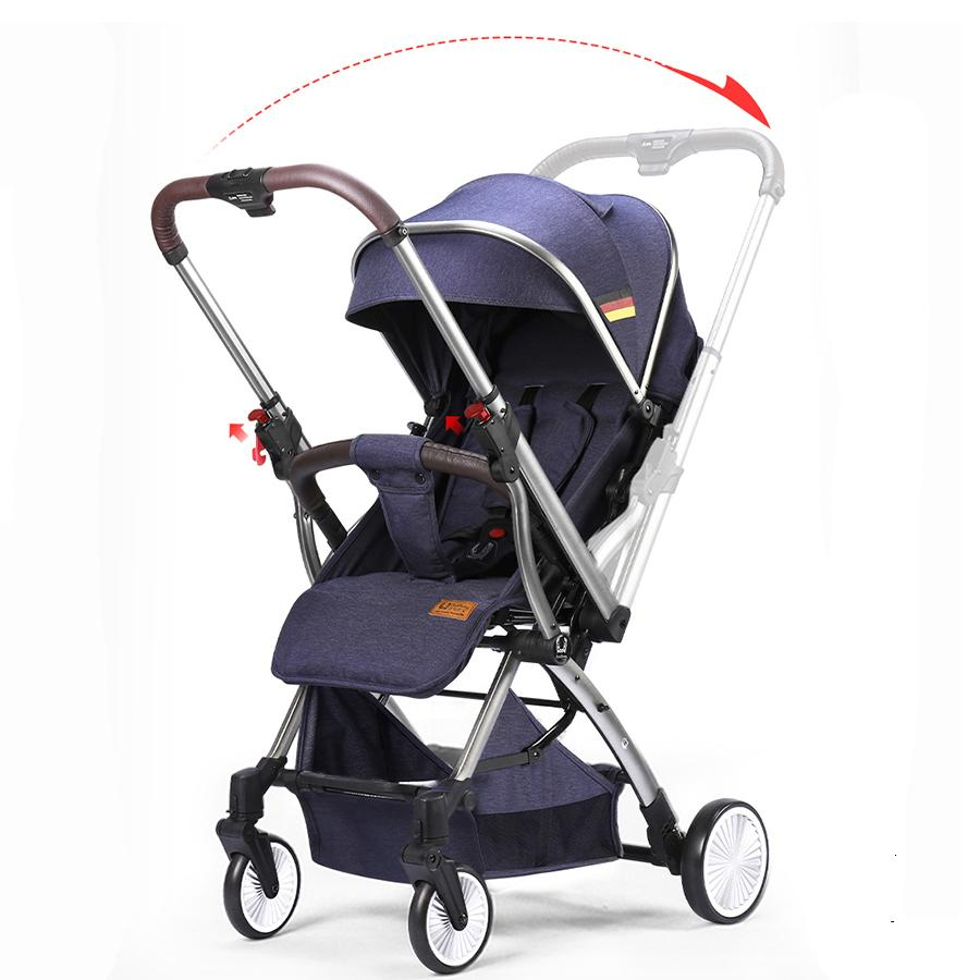 UmaUbaby Baby Stroller Bidirectional Switching Light Can sit and Lie Convenient