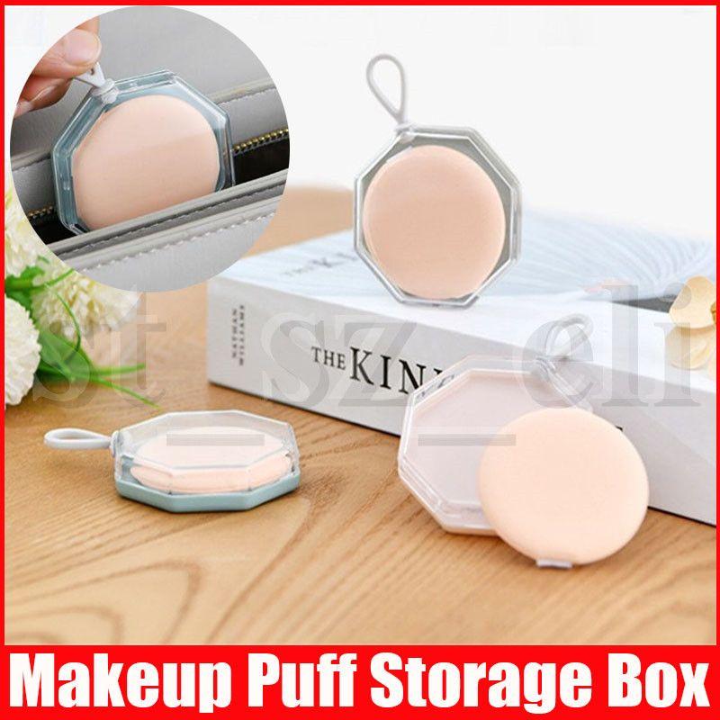 Plástico Beleza Esponja Caixa de armazenamento irregular do sopro de pó de secagem Box Titular Mildew prova Cosmetic Puff Caso Acessórios Maquiagem