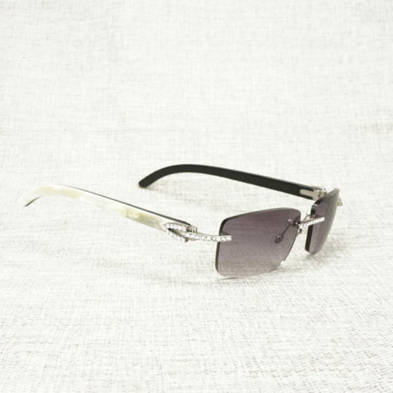 Horn Jahrgang Strass Natur Buffalo Randlos-Sonnenbrille-Männer Holz Quadrat Sonne Glas-Frauen für Outdoor Shades Oculos Brillen Ch01