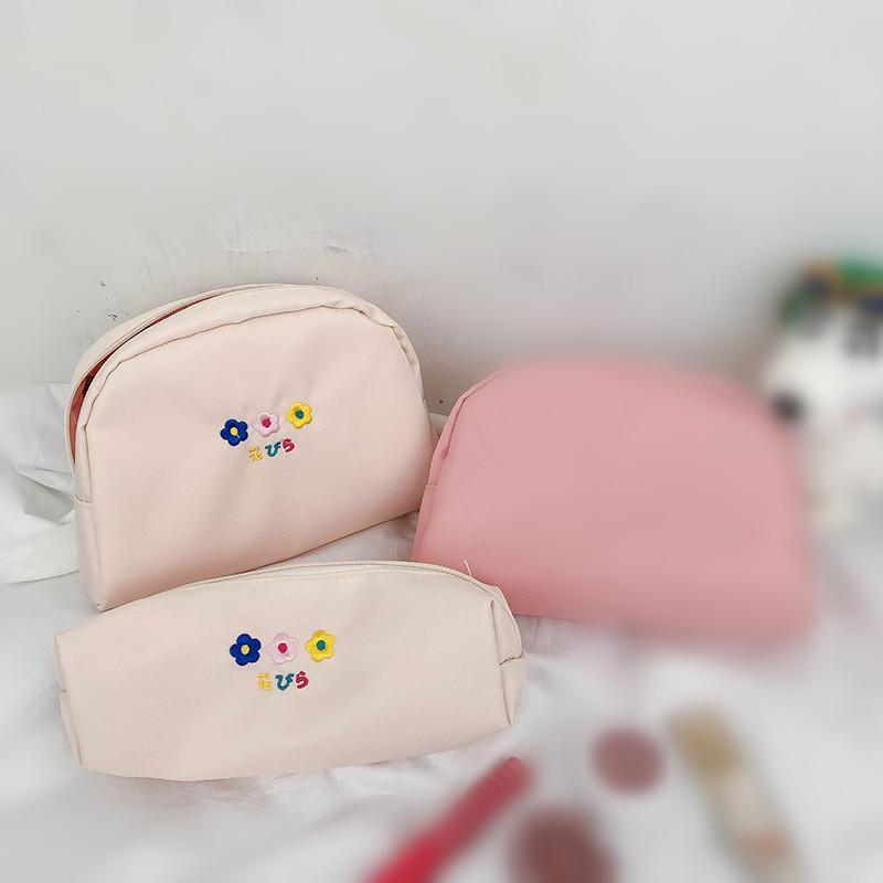 Makeup Printed Flower Women Purse Bag Organizer Portable Zipper Toiletry Pouch Case Bags Ladies Fashion Cosmetic Travel Storage Wrxwc