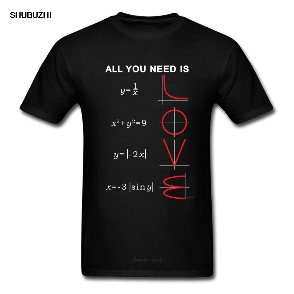 Geometrische Algebra Gleichung Graph-T-Shirts Ein Ll You Need Is Love Math Wissenschaft Problem Black Fashion Teeshirt Plus Size New-T-Shirt