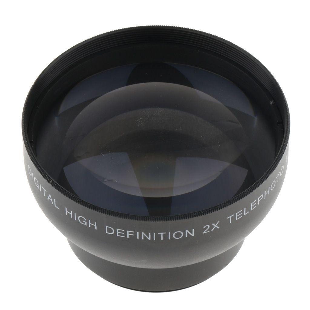 43mm 2x Ampliación HD Conversor de fotos de la lente para Canon SLR