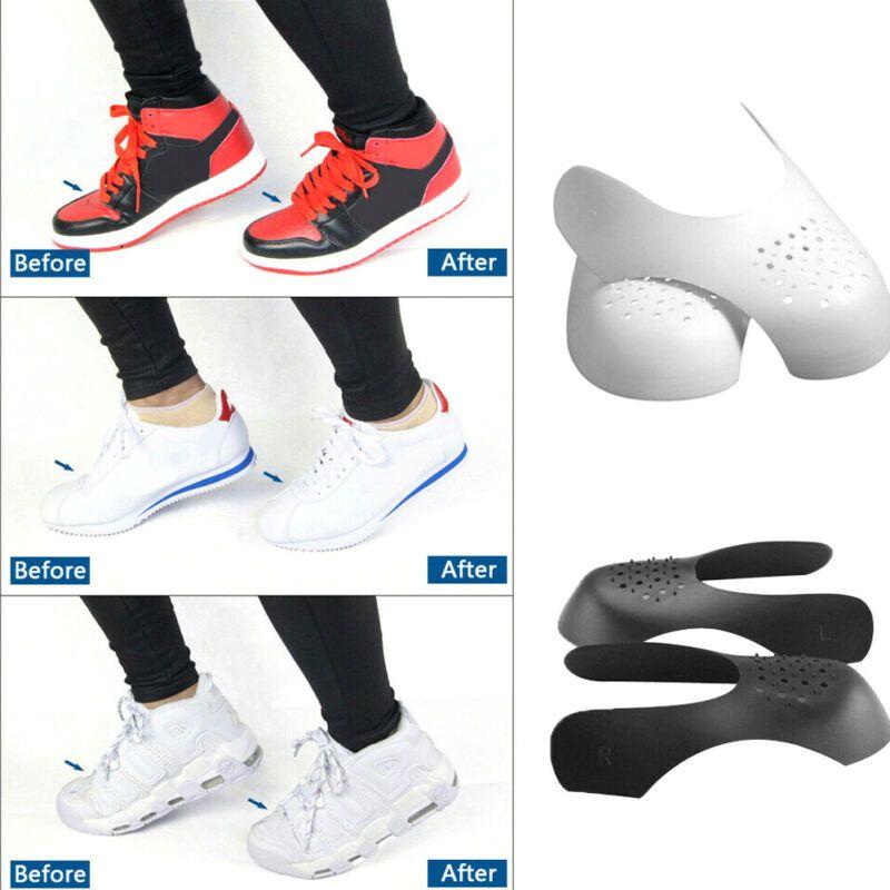 2020 Yepyeni 2 Çiftleri Evrensel Sneaker Kuvvet Alanı Sneaker Düşürücü Ayakkabı Karşıtı Kırışıklık Shield Siyah Beyaz Shields