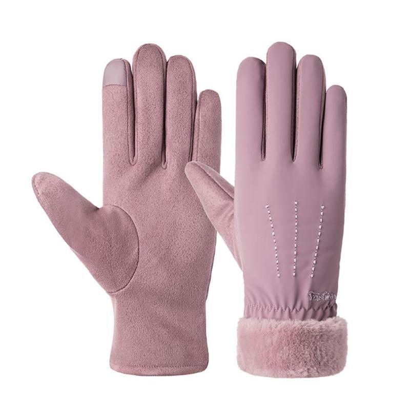 MISSKY donne Guanti Touchscreen Guanti Lady ispessita e Fluffy Fingered mani calde Keeper in tempo freddo