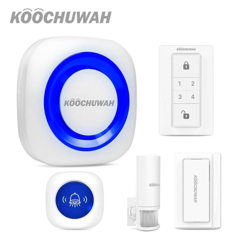 KOOCHUWAH Ev Alarm Sistemleri Güvenlik Ana Kablosuz Oto Alarm Sistemi araç yolu Hareket Güvenlik Sensörü Ses Monitör