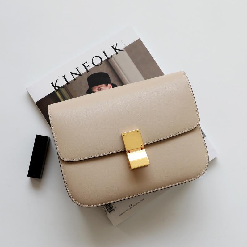2020 nuova versione aggiornata di Tofu Borsa Double Spring Classic Mano strofinare modello Leather Shoulder Bag Messenger hostess
