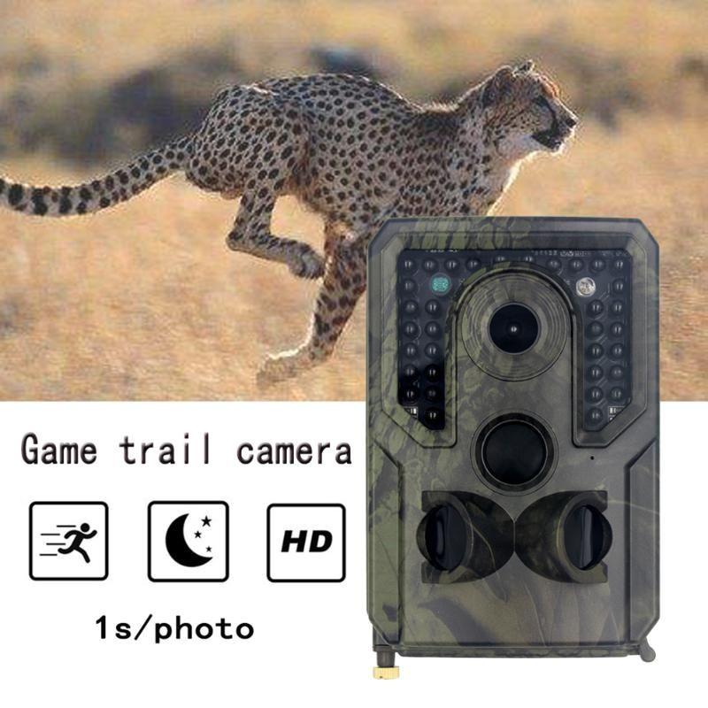 Mini cámara al aire libre del rastro de la caza de 12MP 1080P PIR visión nocturna impermeable de disparo juego del rastro de la cámara de vídeo grabadora de Cámaras