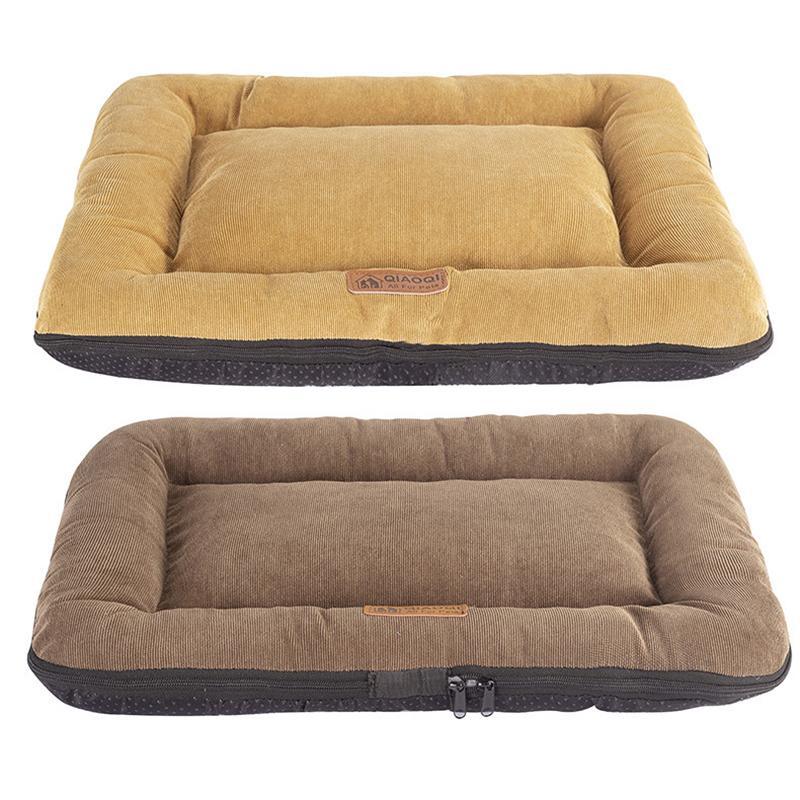 تدفئة الكلب سرير الحيوانات الأليفة حصيرة القابل للإزالة قابل للغسل أسفل ماء كلب الاسرة كودري بيت الكلب صوفا لمتوسط الصغيرة الكلاب القطط حيوانات أليفة المنتجات