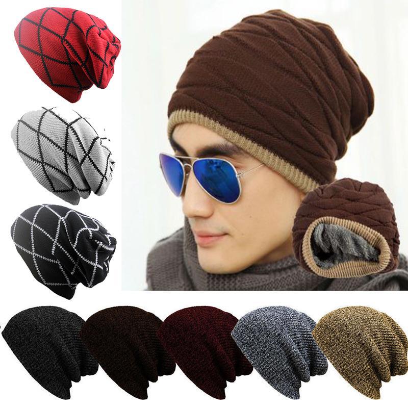 Unisex Örme Kış Kadın Erkek Moda Katı Renk Beanie Hat Bonnet Femme Skullies kasketleri Yumuşak Pamuk Kalın Cap Sıcak Şapka