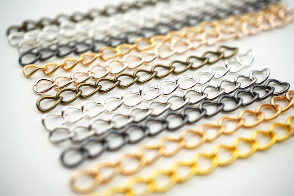 0PSoA Extensão cinco centímetros de cauda de ferro sete centímetros cadeia cadeia alongada Iron Tail 50 peças / embalar galvanizados ouro, prata antiga arma verde ouro KC preto