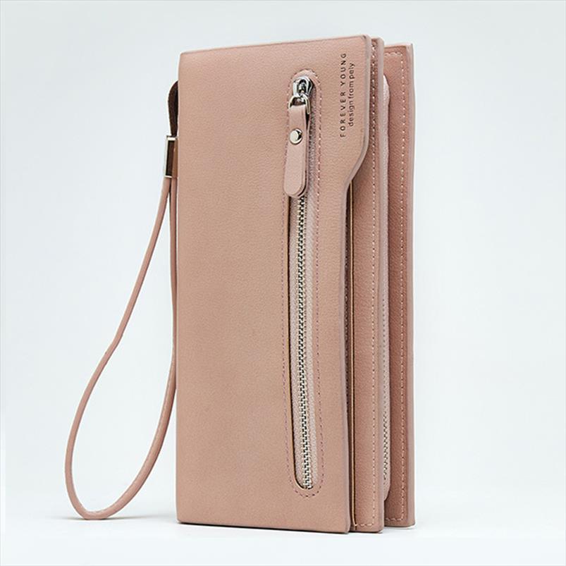 2019 Ladys Carteras Portafoglio moneta PU in pelle per il tempo libero womens frizione portafogli borsa da donna portafoglio lungo portafoglio femminile Nuovo nnbwp