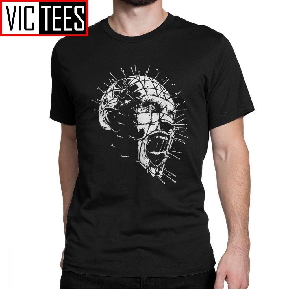 Camiseta Hellraiser Pinhead horror simple manga corta Estilo Camiseta de cuello redondo de la ropa del hombre camiseta de algodón