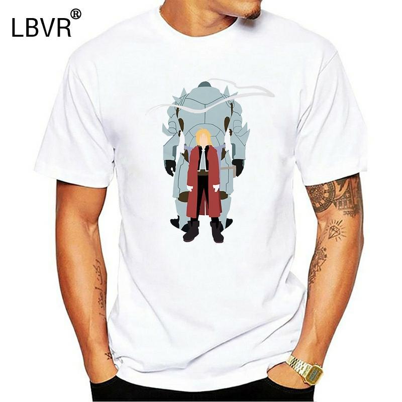 À manches courtes Full Metal Alchemist Imprimer Hauts T-ShiWhite pour les hommes Metal Alchemist T-shirts Chemise adulte T-shirt blanc Anime Haut