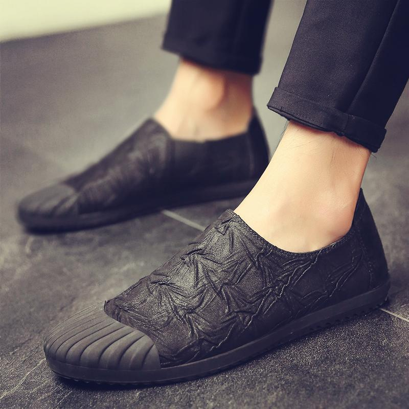 Brand Fashion Men's Canvas shoes Male casual soft low top slip on shoes men loafers Driving breathable Loafers wer89