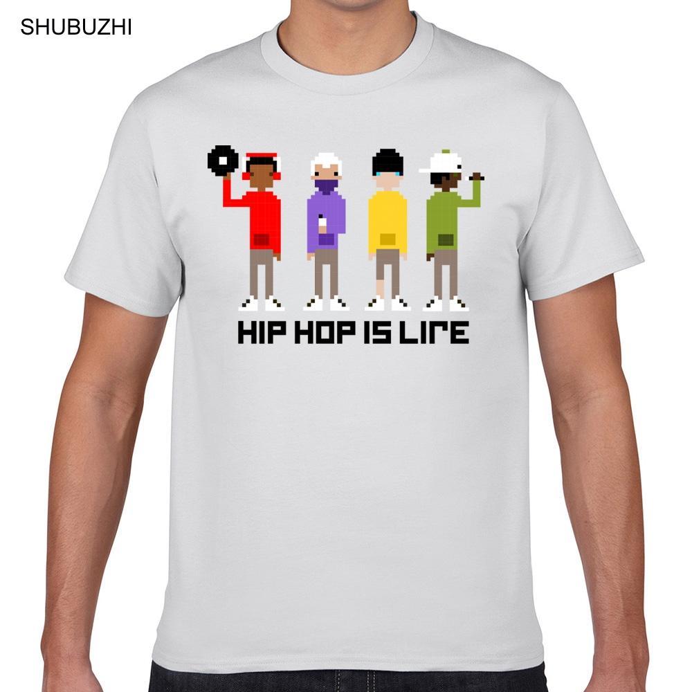 Top uomini della maglietta del pixel di Hip Hop a colori di moda Vintage Geek Cotone maschio maglietta del cotone maglietta di estate degli uomini di moda T-shirt Euro Size