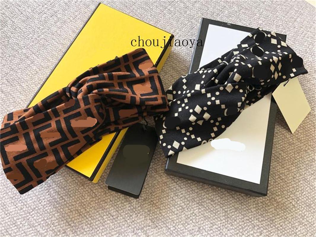 Vente chaude Designer élastique Bandeau pour les femmes Bandeaux pour les femmes Fille Retro Lettre pleine headwraps Livraison gratuite