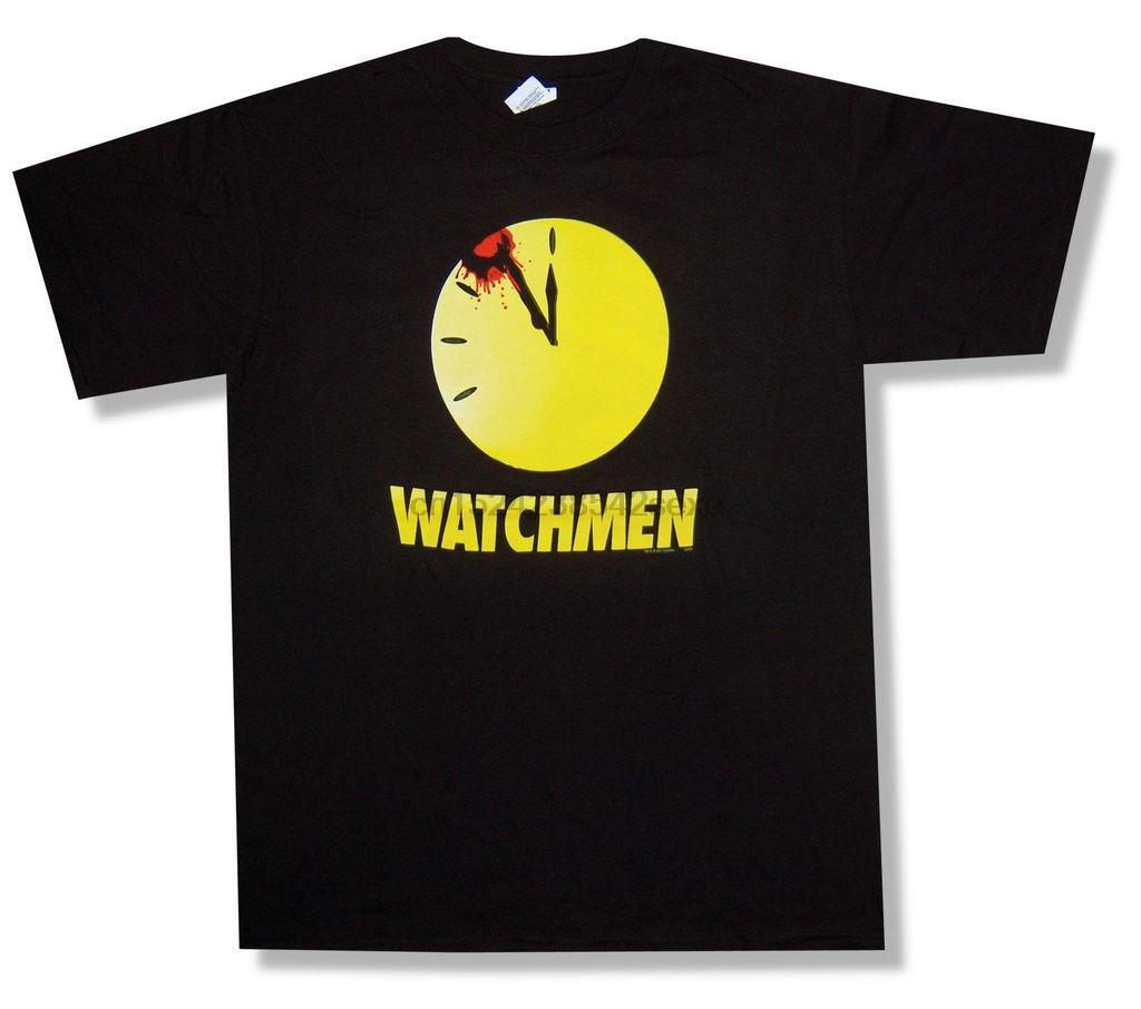 Watchmen Clock Splatter Noir T-shirt sanglant New officiel du film comique
