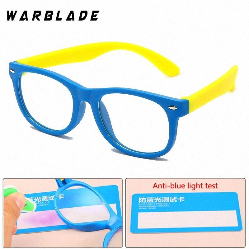 Warblade New Baby Anti-Azzurro Occhiali per Bambini morbido Telaio Goggle colorato silicone flessibile Occhiali bambini Eye Fame Eywear ffUR #