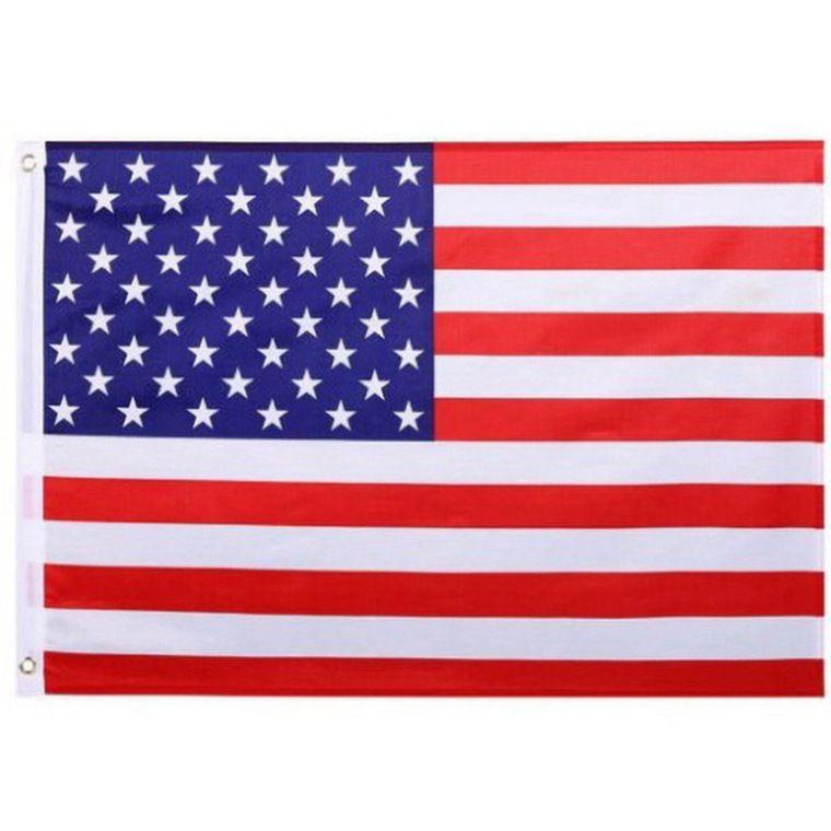 50шт Американский флаг США Сад Офис Баннер Флаги 3x5 FT Bannner Качество Звезды Stripes полиэстер Прочные Флаг 150 * 90 CM